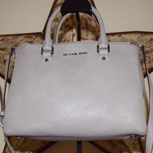 Michael Kors Silver Leather Handbag